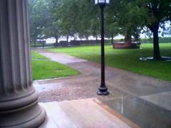 050706 puddles (Dan4th) Tags: cameraphone cambridge summer wet rain boston moblog phonecam ma mit column puddles 02139 massachusettsinstituteoftechnology
