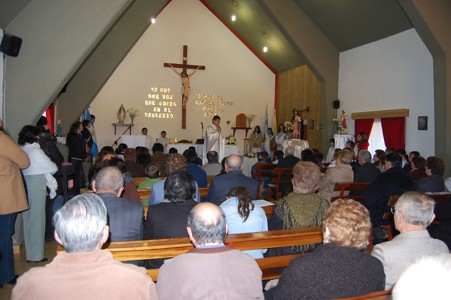 Misa en la Capilla San Juan Bautista
