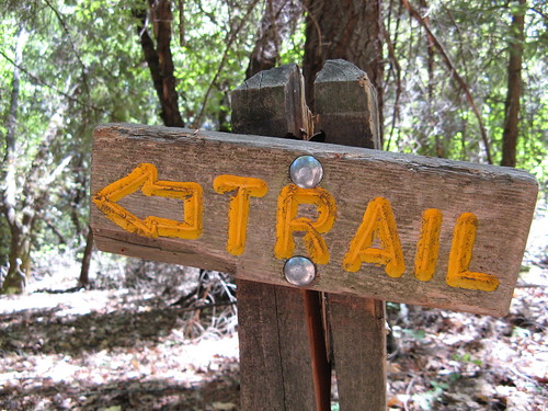 Rugged trail sign