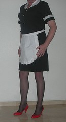 suzycockette, ready to serve (suzycockette) Tags: sissy maid frenchmaid cuckold travestite sissymaid