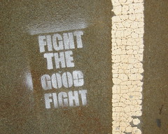 pick your battles wisely (Luna Park) Tags: nyc streetart words stencil lunapark williamsburgbridge fightthegoodfight
