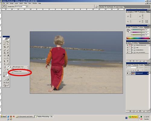 Tilting Horizon - mesure tool