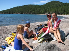 Mica Bay snorkelers