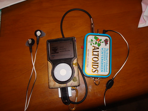 bose headphone + altoids headphone amp