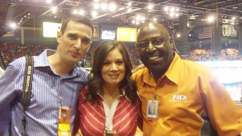 Me, Beverly Kidd & Gerald - Phoenix Suns Playoff Game