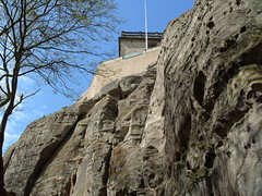 Nottingham Castle and Rock . (Lenton Sands) Tags: nottingham rock nottinghamcastle brewhouseyard