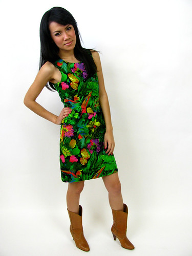 VINTAGE 1980's SHEATH DRESS