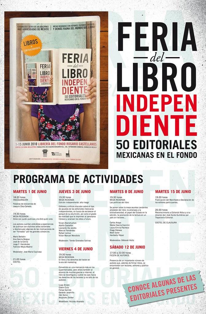 Feria del libro independiente - cartel