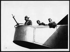 Nose of a Handley-Page manned by three men