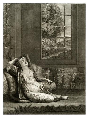 017-Mujer turca reposando despues del baño-Recueil de cent estampes…1714- M. Le Hay