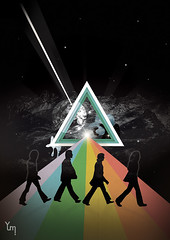 The dark side of the Abbey road (yumi shimada) Tags: road pink music moon history classic abbey rock illustration raios dark poster design arte side beatles luzes rocknroll psychedelic universe floyd yumi discos lps universo capas triangulo direitos shimada autorais