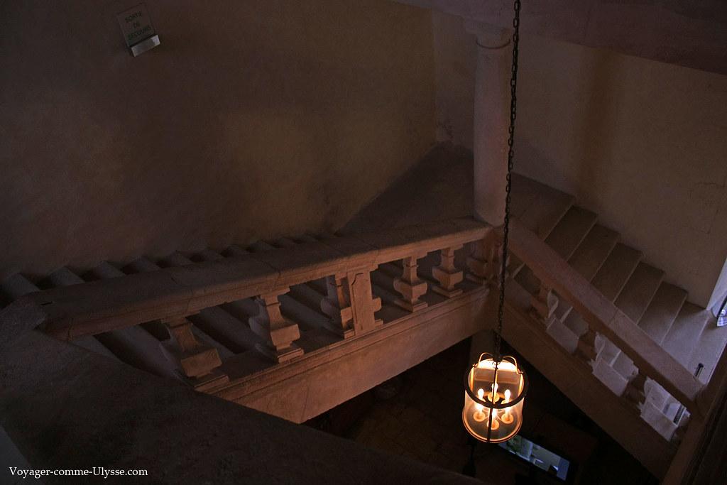 Escaliers des bâtiments de l'Abbaye