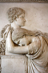 """""""Thou'lt come no more/Never . . ."""" (wamcclung) Tags: sculpture paris louvre relief stele marble neoclassical funerary canova"""