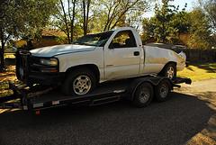 Alex's wrecked truck