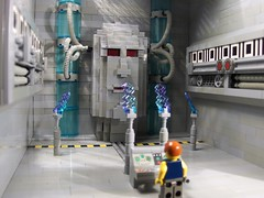 Doog vs the Omni-Star AI (Ludgonious) Tags: toy liu lego space artificial intelligence scifi atlas binary ai omni doog