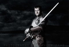 First knight (Ashley Daws) Tags: zeiss photoshop dark 50mm f14 flash carl knight warrior suite armour chainmail maille chainmaille strobist