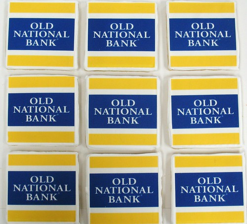 [Image from Flickr]:Old National Bank Logo Cookies