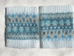 Bohus wrist warmers (Asplund) Tags: knitting badge bohus blueshimmer blskimmer