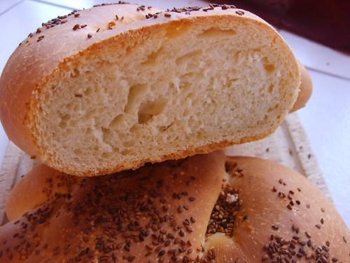 une tranche de pain à l'huile