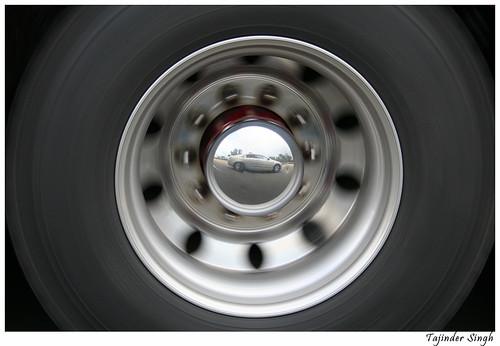 Car in Truck Tyre