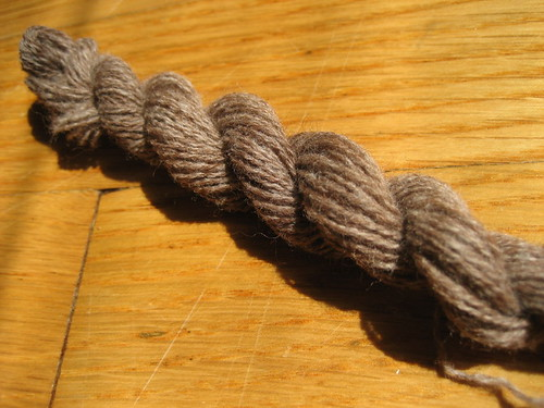 Foxhill Farm cormo/alpaca 2 ply sample