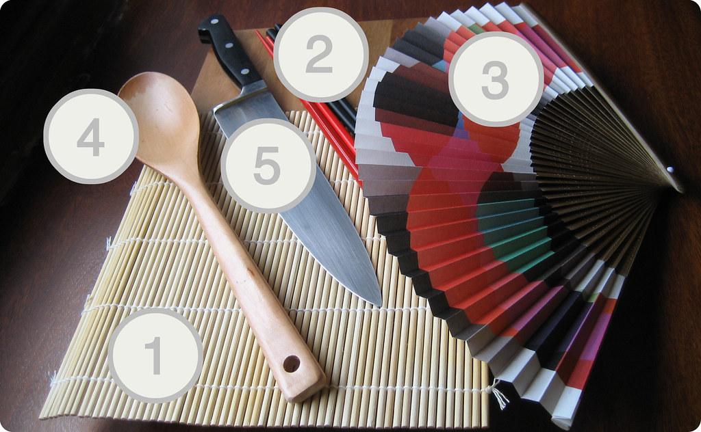Herrramientas para hacer sushi
