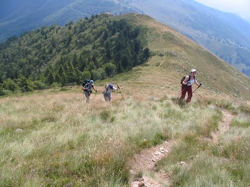 Il sentiero sulla cresta