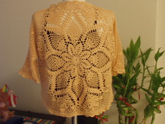 Flower Crochet Bolero - Back View