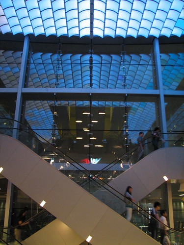pretty glass escalators