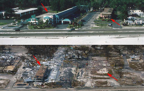 Before and After. Gulfport, Miss 2 Days After Katrina Landfall