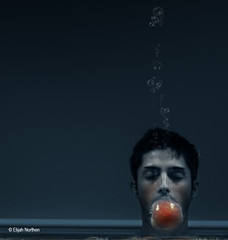 SCUBA (elijah northen) Tags: blue apple water face wall mouth eyes eli underwater bubbles scuba dreamcatcher 2b waterhead abigfave anawesomeshot superaplus aplusphoto platinumheartaward elinorthen 100fave avertedvision 2bdabest