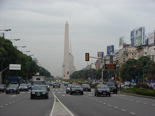 Avda. 9 de Julio y Obelisco - Buenos Aires por Iván Utz.