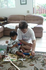 Playing with Aunty Marlene