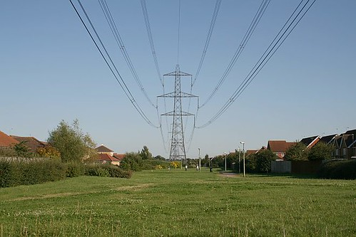 Power lines crossing the Ladygrove Estate, Didcot
