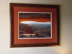 Mesa Arch at Sunrise - Framed 16x21 Giclee (dsphotoscapes@aol.com) Tags: travel art sunrise landscapes utah nationalpark arch canyonlands nationalparks mesaarch utahlandscapes utahnationalparks gicle mesaarchatsunrise