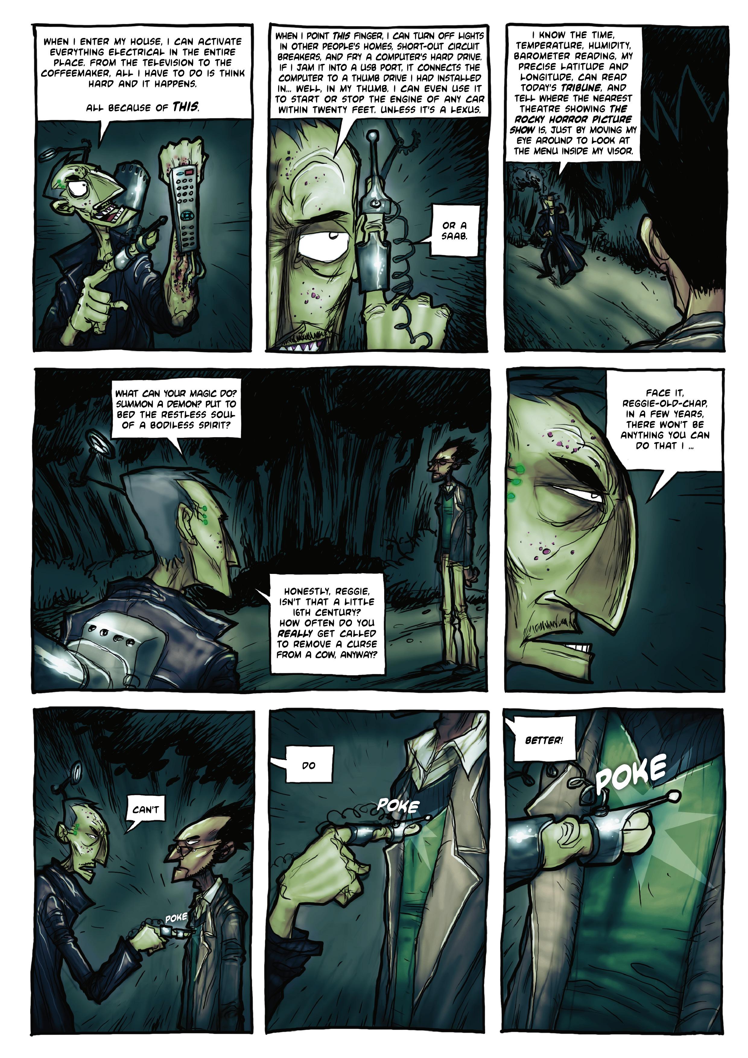 Sir Reginald vs Man-X, page 3, by Art Grafunkel