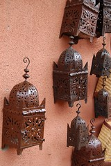 Lamps on a wall (laura0509) Tags: morocco marrakech lamps merchants wallhangings lamplights streetmerchandise