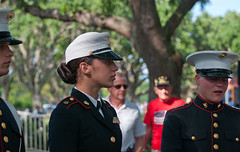 (Lil Wally) Tags: portrait woman men girl hat st lady soldier marine uniform profile cap corps pete fla marinecorps rotc memorialday semperfi 2010 colorguard ladymarine baypinesnatcemetery dreesblues