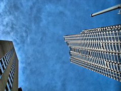 Feeling small (J_Nipper) Tags: atlanta sky up buildings looking post atl processed hdr pp hdri