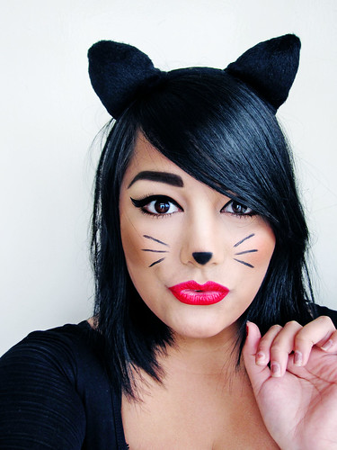 Home Made Cat Halloween Make Up Ideas 2012