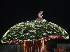 Alice in Wonderland in Disney's Electrical Parade. (04/17/2010)