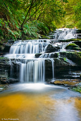 Leura Cascades - Waterfall in Blue Mountains (-yury-) Tags: water waterfall australia bluemountains cascades nsw leura  supershot  abigfave