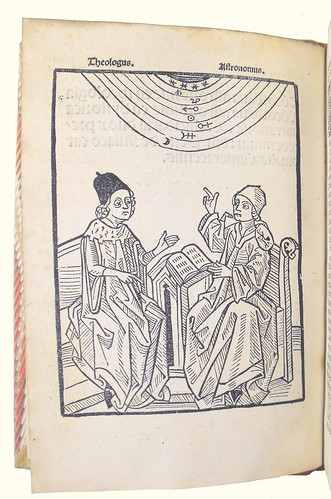 Full Page Woodcut Illustration in 'Concordantia Astronomiae cum Theologia'