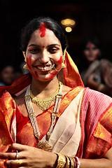 (Sukanta Maikap Photography) Tags: portrait woman india kolkata calcutta 2010 durgapuja westbengal canon50mmf18ii dasami canon450d baghbazar sindurkhela