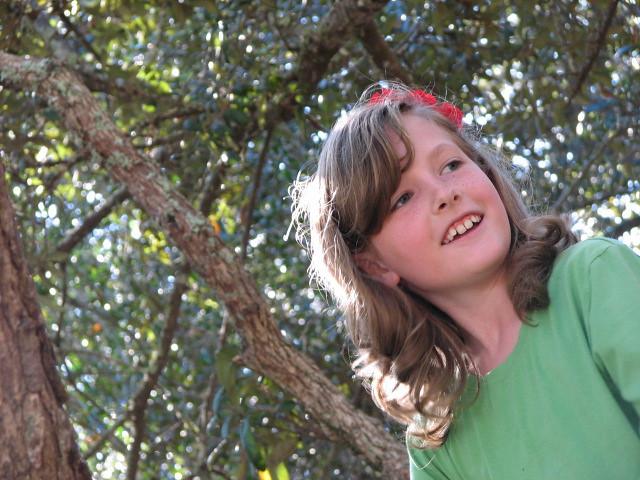 emily in tree