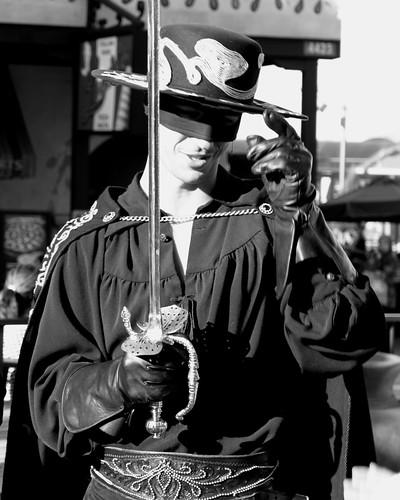 california ca bw white black la los mask angeles super hollywood hero sword universal studios zorro monochromia konomark