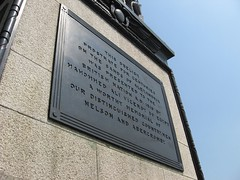 Brass signwork on Cleopatra's Needle 1 (R/DV/RS) Tags: greatbritain england london plaque europe unitedkingdom britain embankment cleopatrasneedle