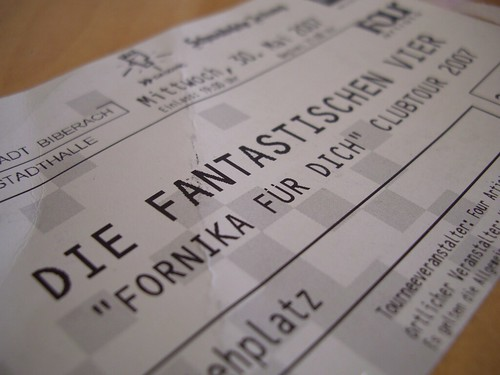 Fanta4 Eintrittskarte