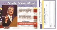 Norm Coleman Back