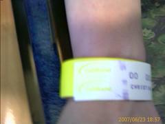 My ED Patient ID bracelet